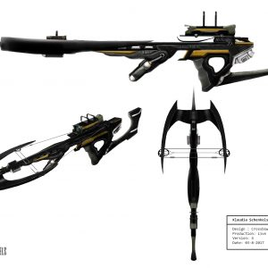 concept art crossbow Klaudia Schenkels website